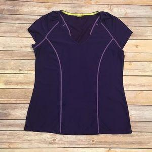 Purple Short Sleeve Athleta shirt, size Large